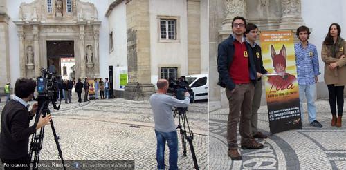 Manifestação contra Lula da Silva para a Universidade de Coimbra retirar o título de Doutor Honoris Causa