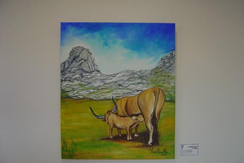 Pintura de gado bovino nos Cornos das Alturas do B
