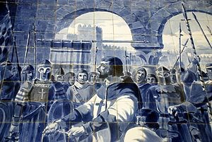 O cavaleiro Egas Moniz apresenta-se ao rei de Leã