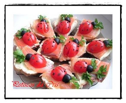 Olha o resultado dos tomatinhos cereja + azeitonas