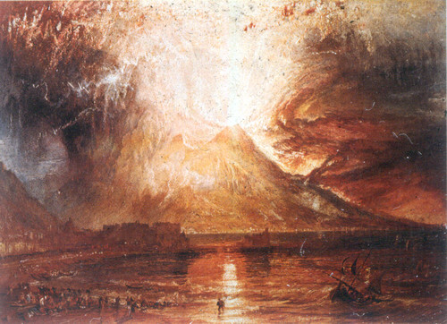 Erupção do Vesúvio 1817 - William Turner - The British Art Center
