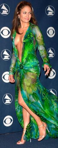 Jennifer Lopez Donatella Versace 2000 Grammy Award