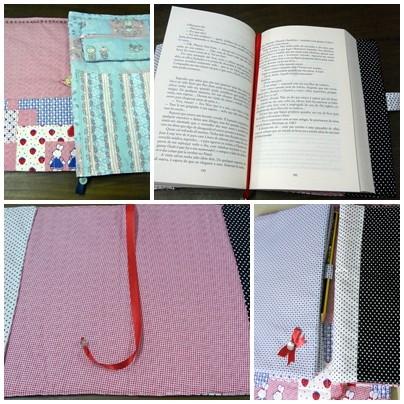 capas em tecido para livros ou cadernos