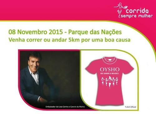 Dia 8 de Novembro 2015 Corrida Sempre Mulher