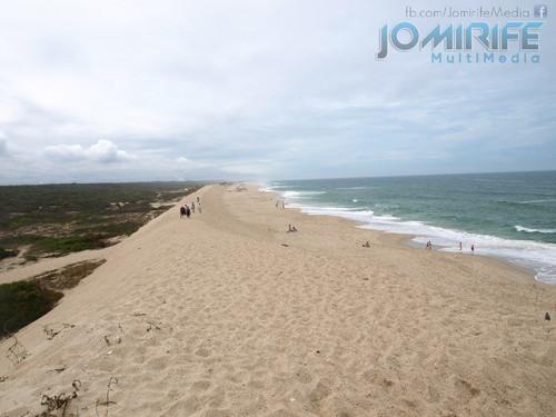Dunas da praia na Costa de Lavos na Figueira da Foz