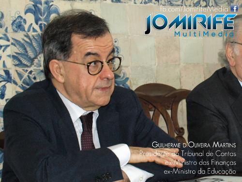 Guilherme d'Oliveira Martins. Presidente do Tribunal de Contas; ex-Ministro da Educação; ex-Ministro das Finanças