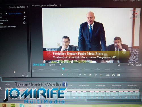 Gravação e Produção de vídeo com Paulo Mota Pinto, Presidente da Comissão dos Assuntos Europeus da Assembleia da República
