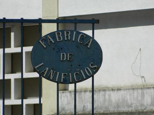 Entrada da antiga fábrica de laníficios