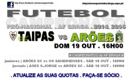 cartaz taipas x arões 19 OUT 2014.jpg