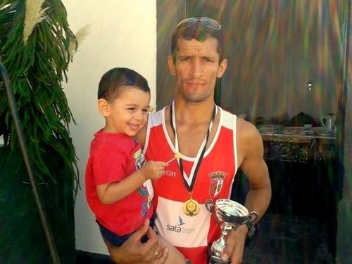 Márcio Azevedo e o seu filho António...