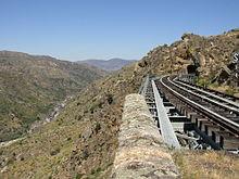 Linea La Fregeneda Ruta de los tuneles J in wikipedia