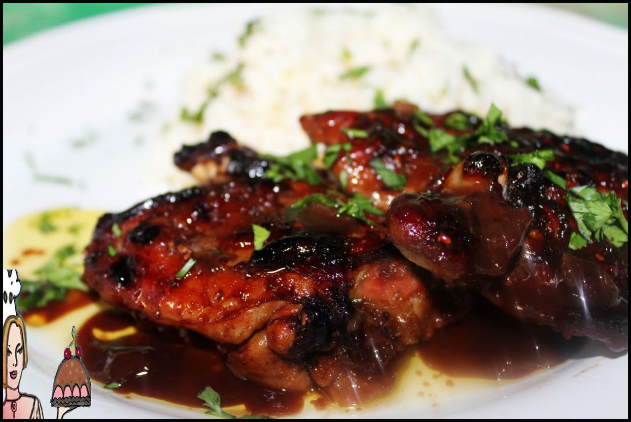 Receita de coxas de frango exóticas tropicais