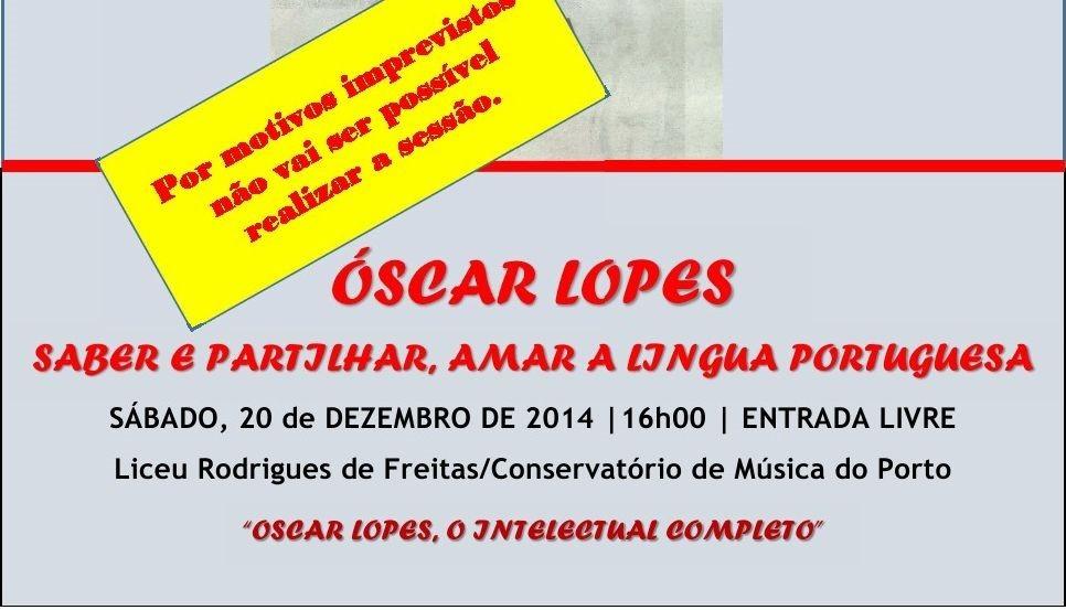 UPP Cancelamento Óscar Lopes