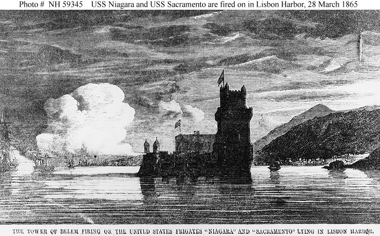 Firing on USS Niagara and USS Sacramento, 28 March