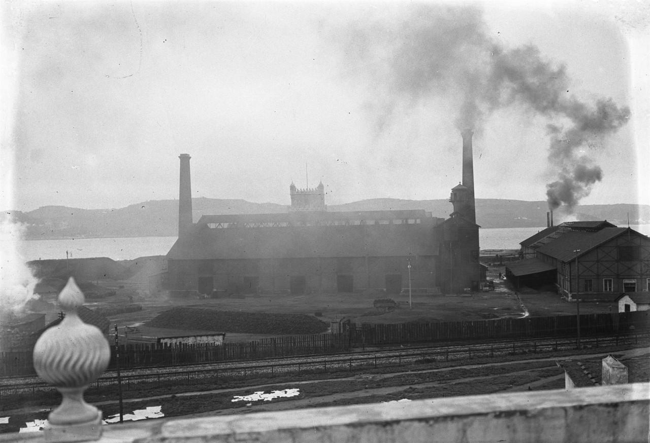 Fábrica de gás de Belém 1912, foto de Joshua Be