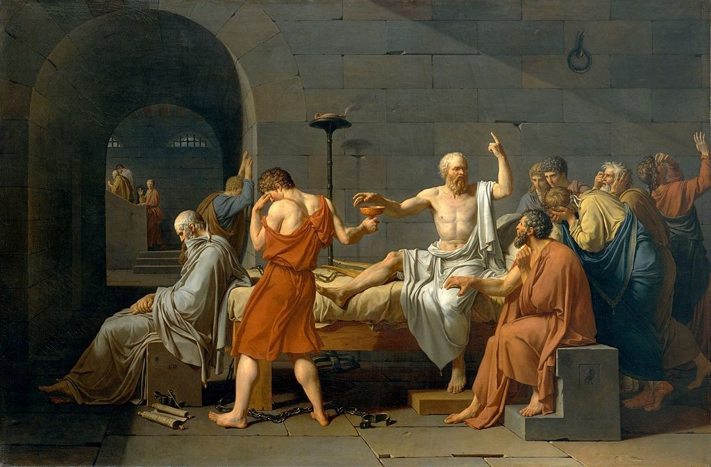 David_-_The_Death_of_Socrates - Jacques-Louis Davi