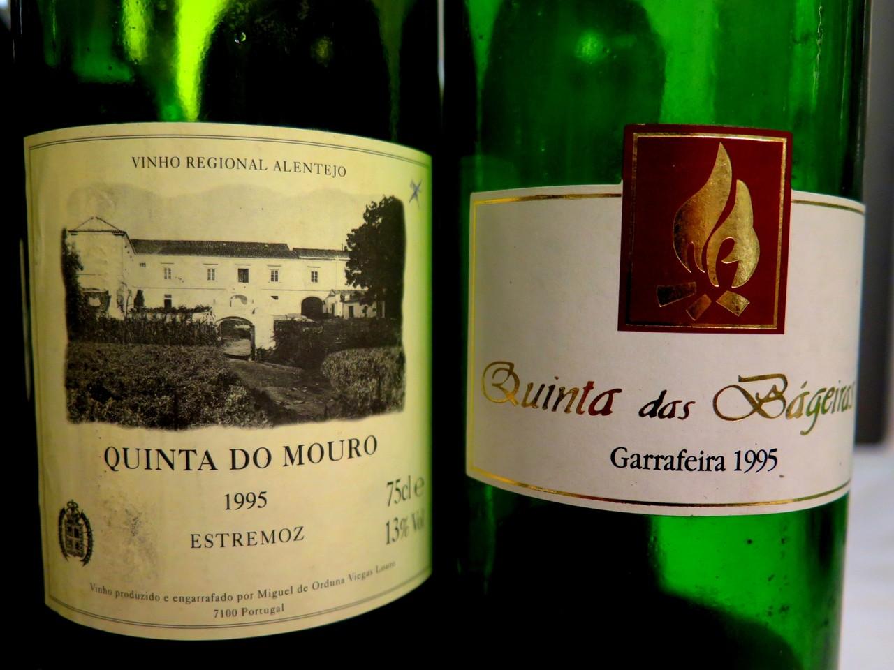 Quinta do Mouro tinto 1995 / Quinta das Bágeiras Garrafeira tinto 1995