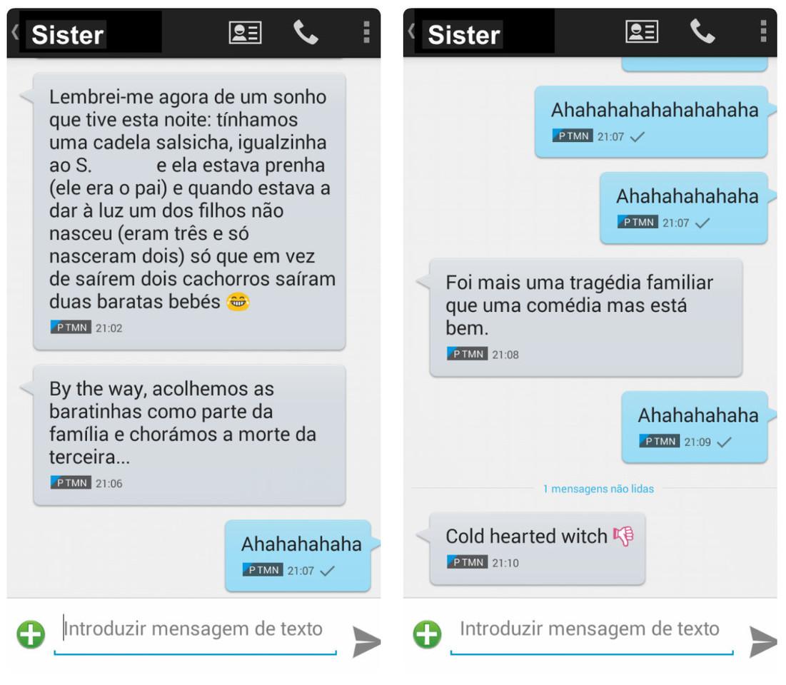 SMS Barats bebés - Maria das Palavras