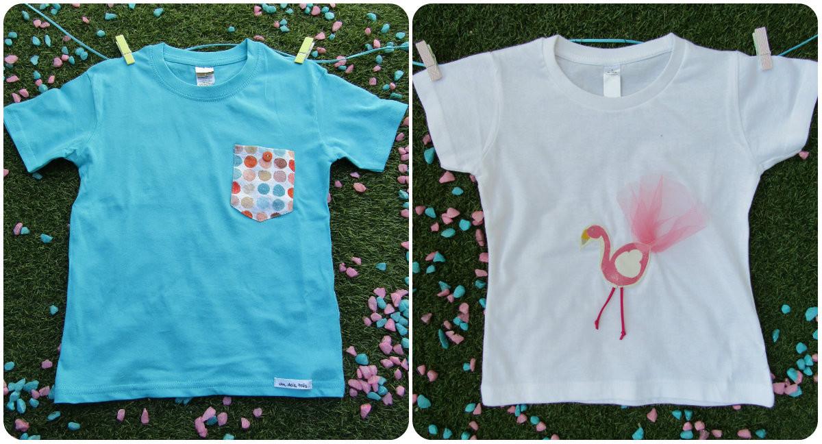 T-Shirts Um Dois Três Menina e Menino - Visitar website...