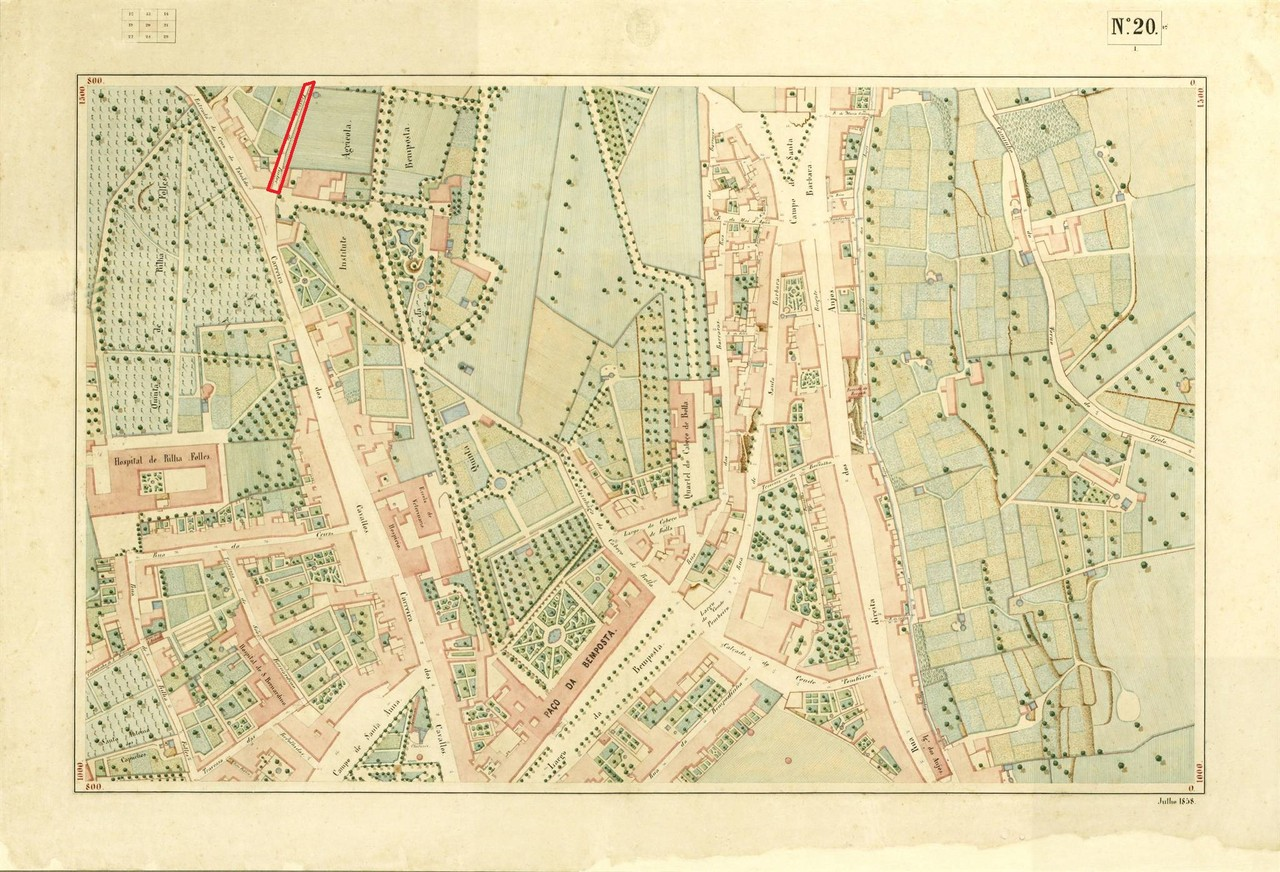 Atlas da carta topográfica de Lisboa, N 20, 1858,