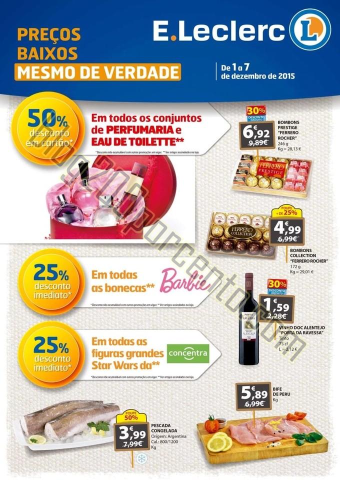 Antevisão Folheto E-LECLERC Promoções de 1 a 7