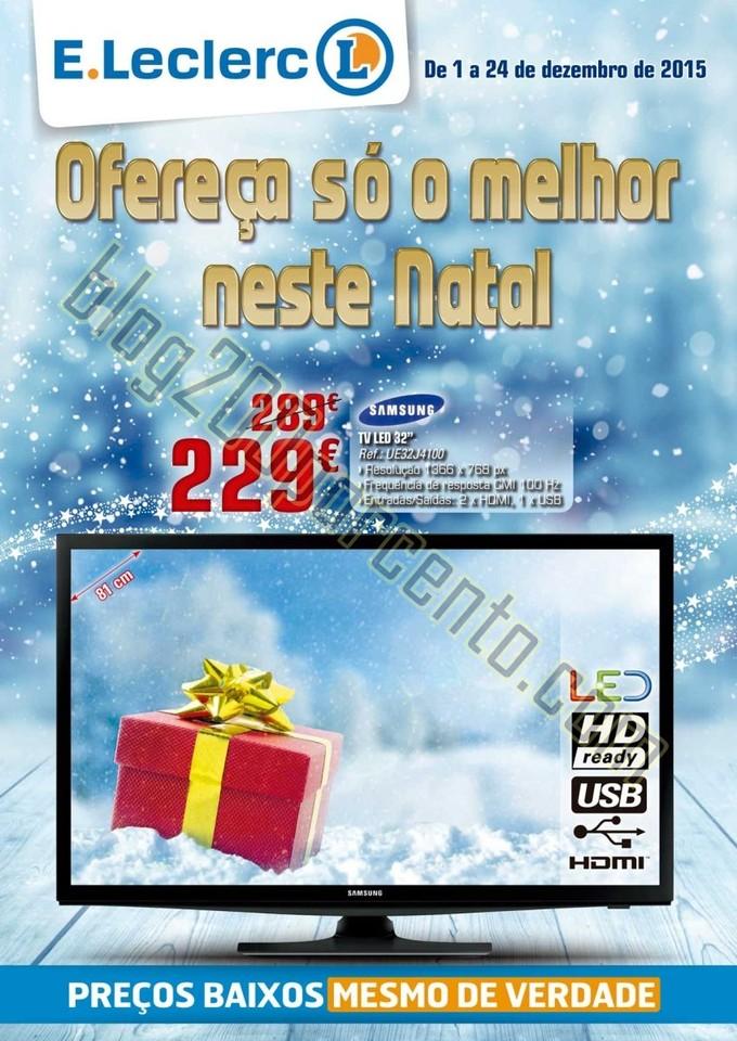 Antevisão Folheto E-LECLERC Extra Natal de 1 a 24