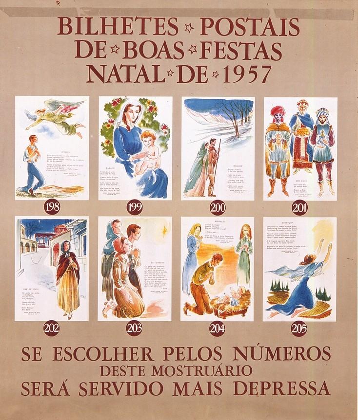 Mostruário de cartões de boas festa (F.P.C., 1957)