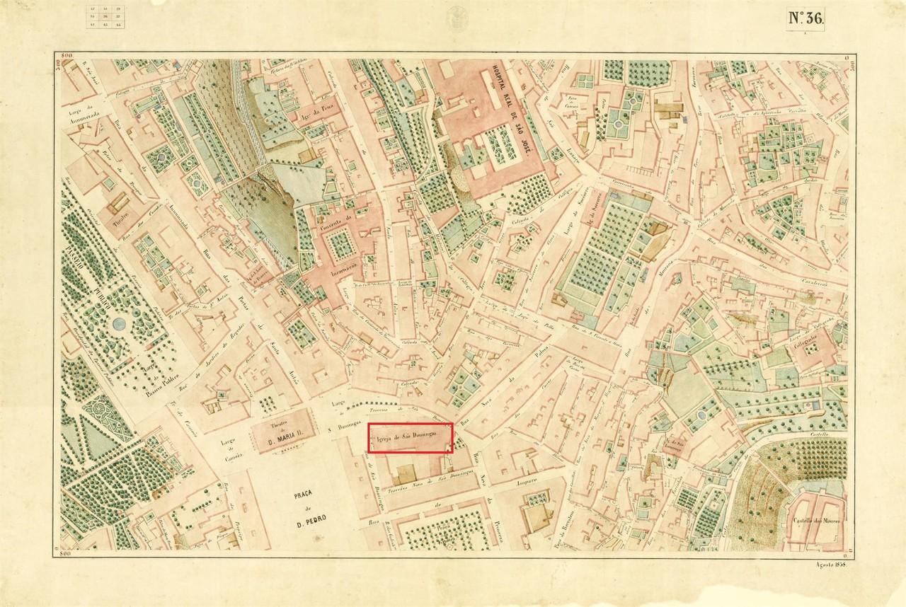 Atlas da carta topográfica de Lisboa, Nº 36, 185
