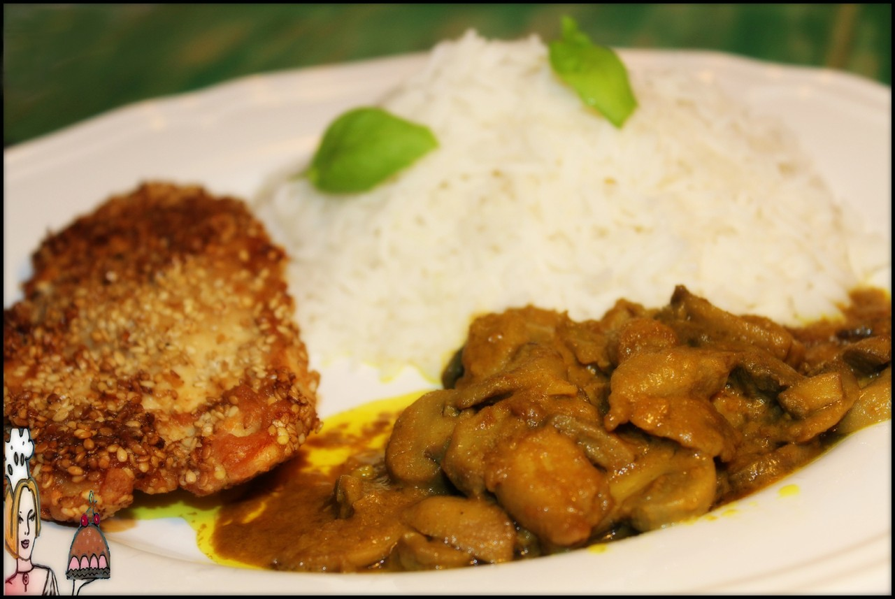 Receita de arroz com frango e cogumelos