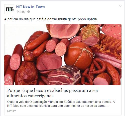 Bacon considerado cancerígeno - NIT