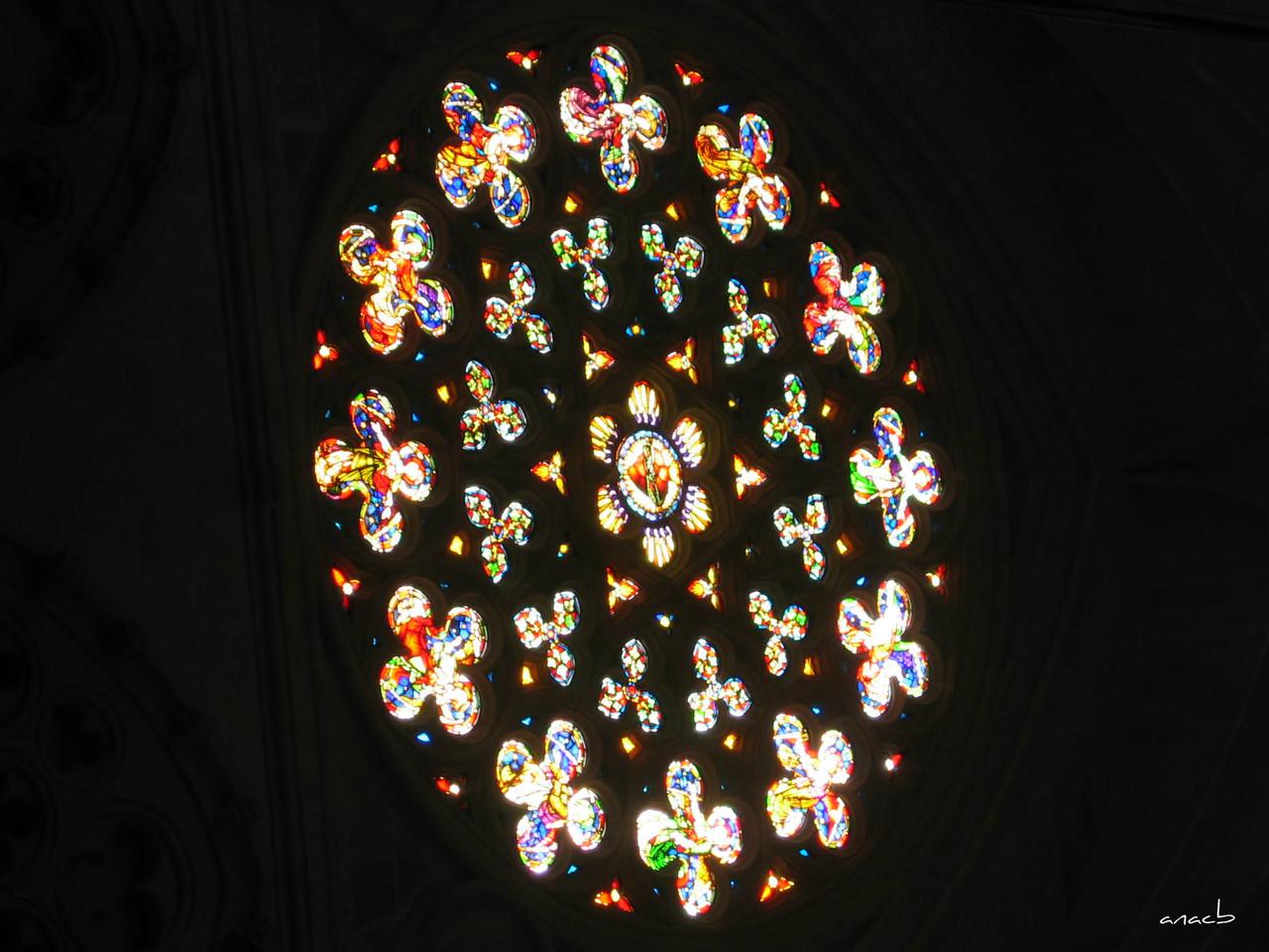 ao acaso #1 vitral da Catedral de Burgos, em Espan