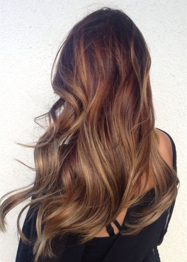 Brown-ombre-hair-color-long-balayage-hairstyle-tre