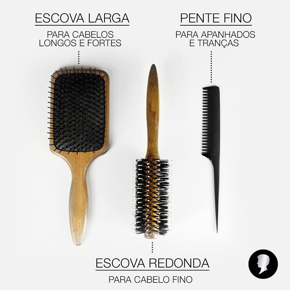 Para diferentes estilos, diferentes escovas. Qual