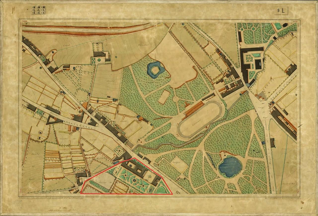 Planta Topográfica de Lisboa 9 L, 1909, in A.M.L.