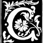 ancient_monogram_ii_letter_c_2_inch_square_magnet-