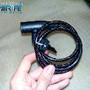 Cadeado com cabo de aço para bicicleta