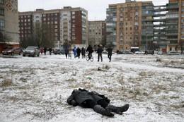 Vítima bombardeamento em Kramatorsk, Ucrânia