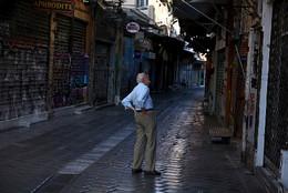 Zona comercial em Atenas, Grécia
