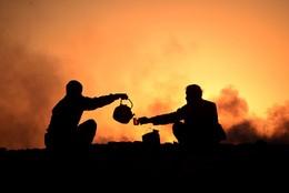 Chá depois do trabalho, Mazar-i-Sharif, Afeganist
