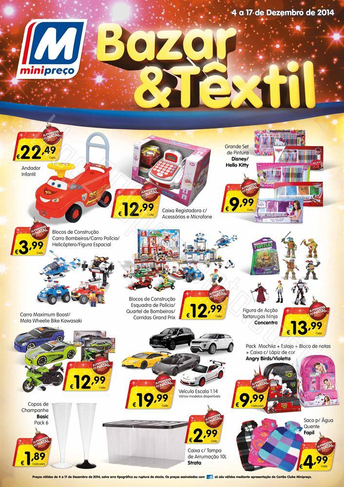 Antevisão Folheto MINIPREÇO Bazar de 4 a 17 deze