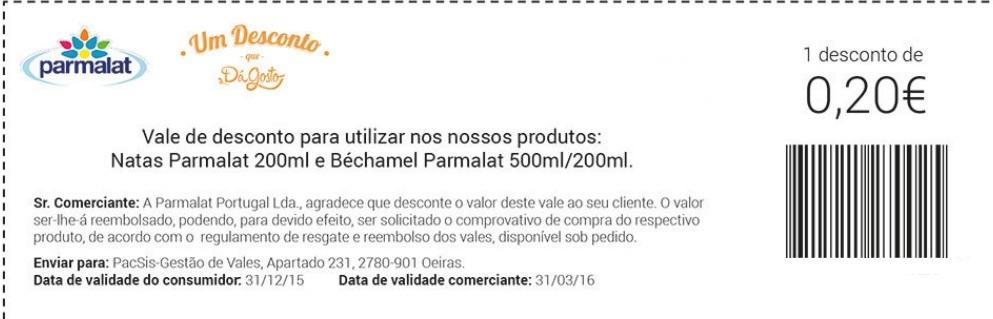 Amostras Parmalat -  1000 Cadernetas Vales de Desconto - 18955853_GLAc6