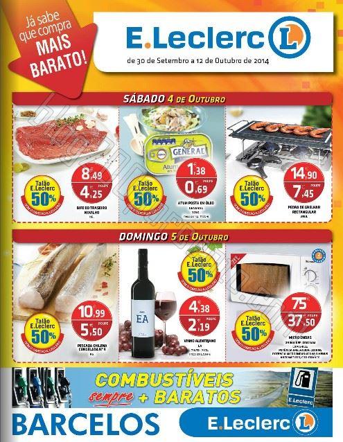 Antevisão Folheto E-LECLERC Barcelos de 30 setembro a 12 outubro