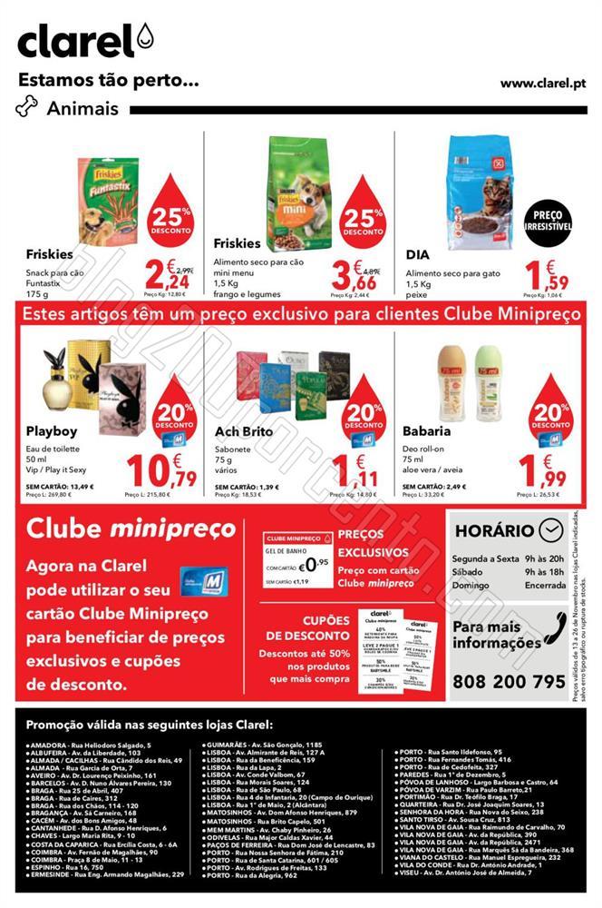 Antevisão Folheto CLAREL de 13 a 26 novembro p8.j