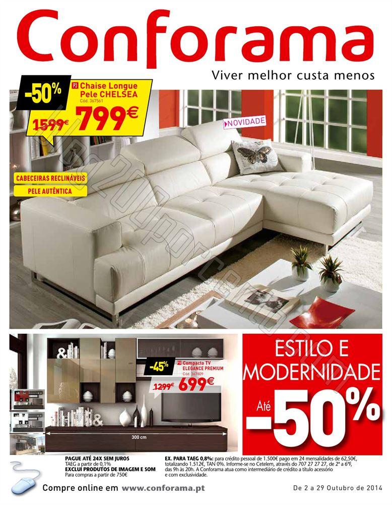 Novo Folheto CONFORAMA de 2 a 29 outubro