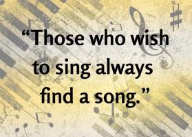 Singing proverb (11-10-15)