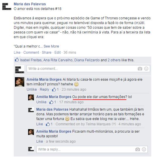 Moço e Maria das Palavras vão fazer fortuna - Facebook
