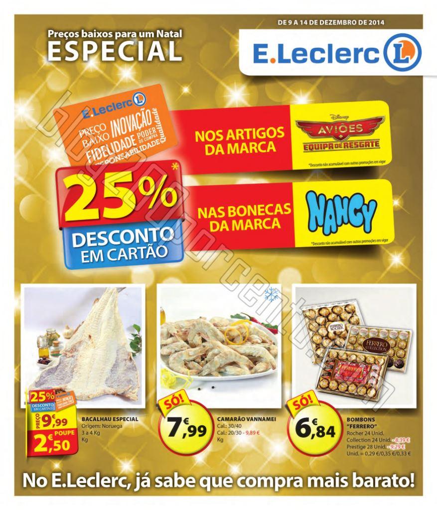 Antevisão Folheto E-LECLERC de 9 a 14 dezembro p1
