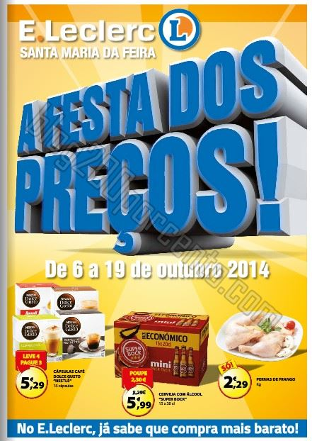 Antevisão Folheto E-LECLERC Feira de 6 a 19 outubro
