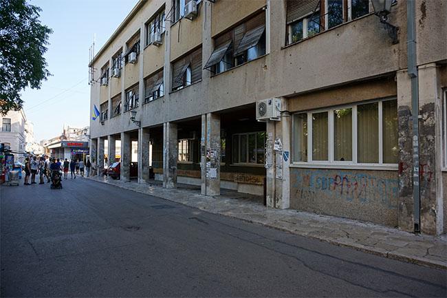 mostar_Gebäude in Trümmern