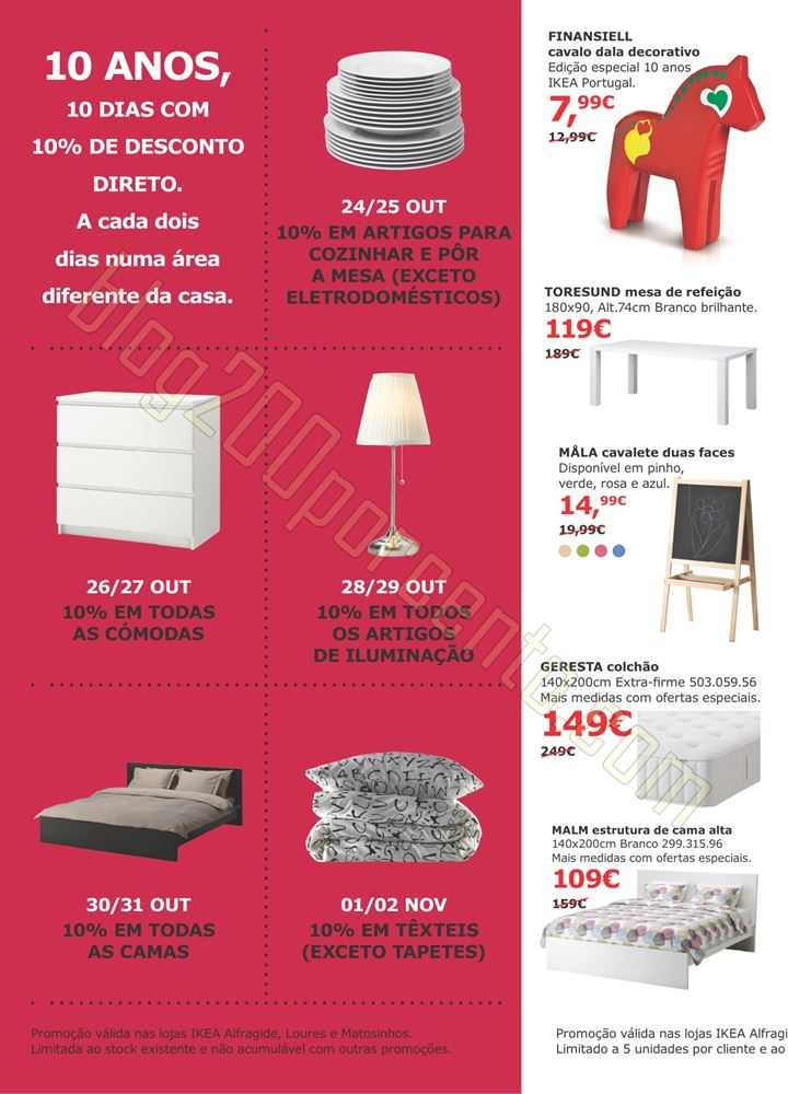 10 dias descontos IKEA de 24 outubro a 2 novembro